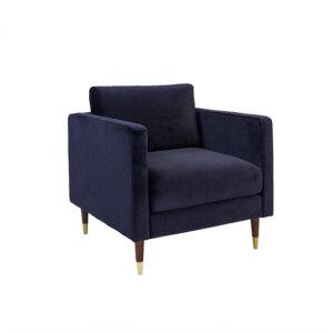 Retro Fauteuil Velvet Blauw